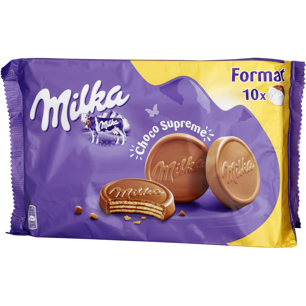 Biscuits Choco Suprême, Milka (x 10, 300 g)
