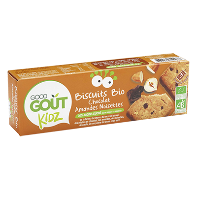 Biscuits Chocolat Amandes Noisettes BIO - dès 3 ans, Good Goût Kid'z (110 g)