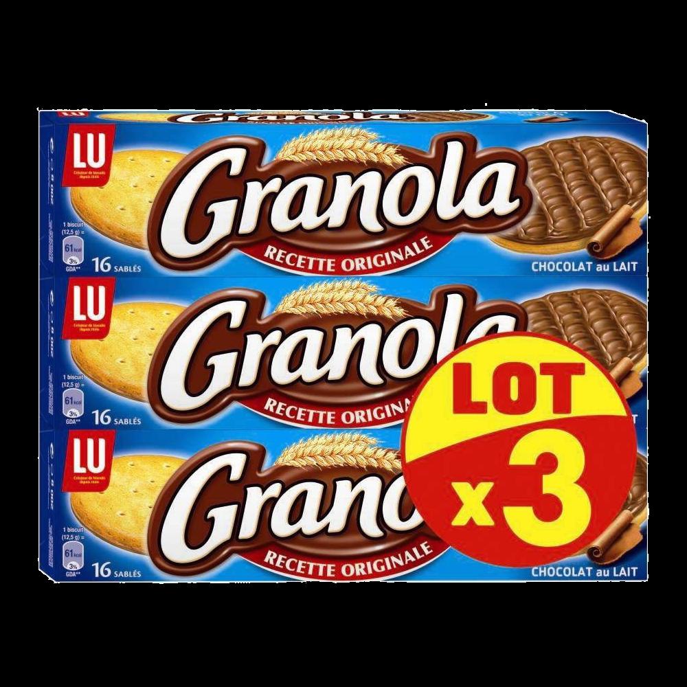 Granola Chocolat au lait, Lu (3 x 200 g)