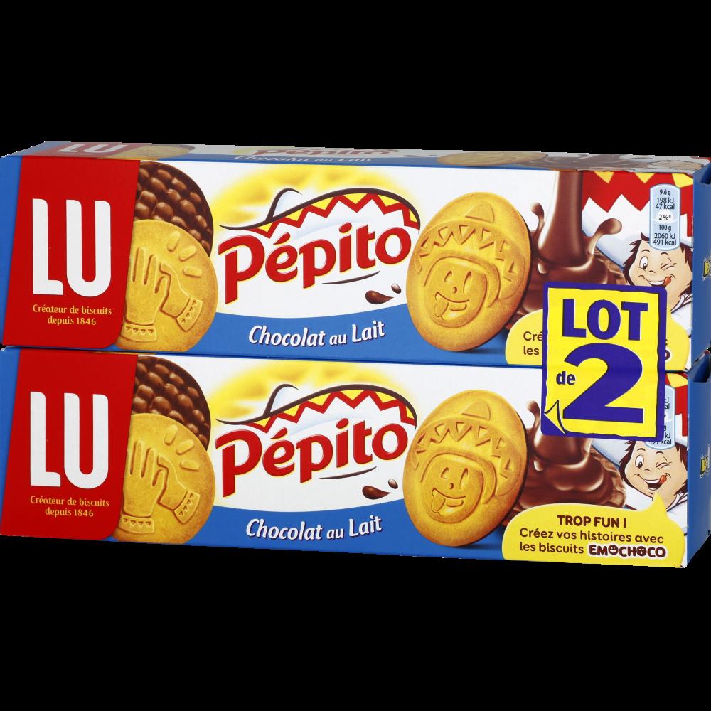 Pépito au chocolat au lait, Lu (2 x 192 g)