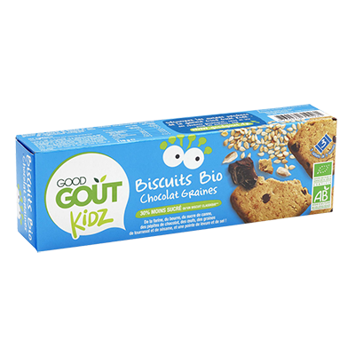 Biscuits Chocolat Sésame Tournesol BIO - dès 3 ans, Good Goût Kid'z (110 g)