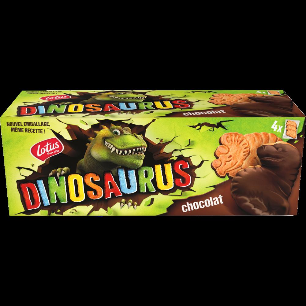 Biscuits nappés au chocolat noir Dinosaurus, Lotus (225 g)