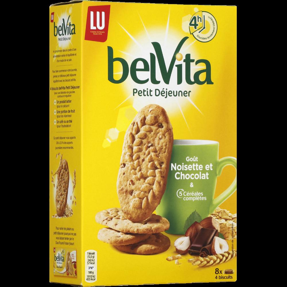 Biscuits chocolat et noisettes, Belvita Petit Déjeuner (400 g)