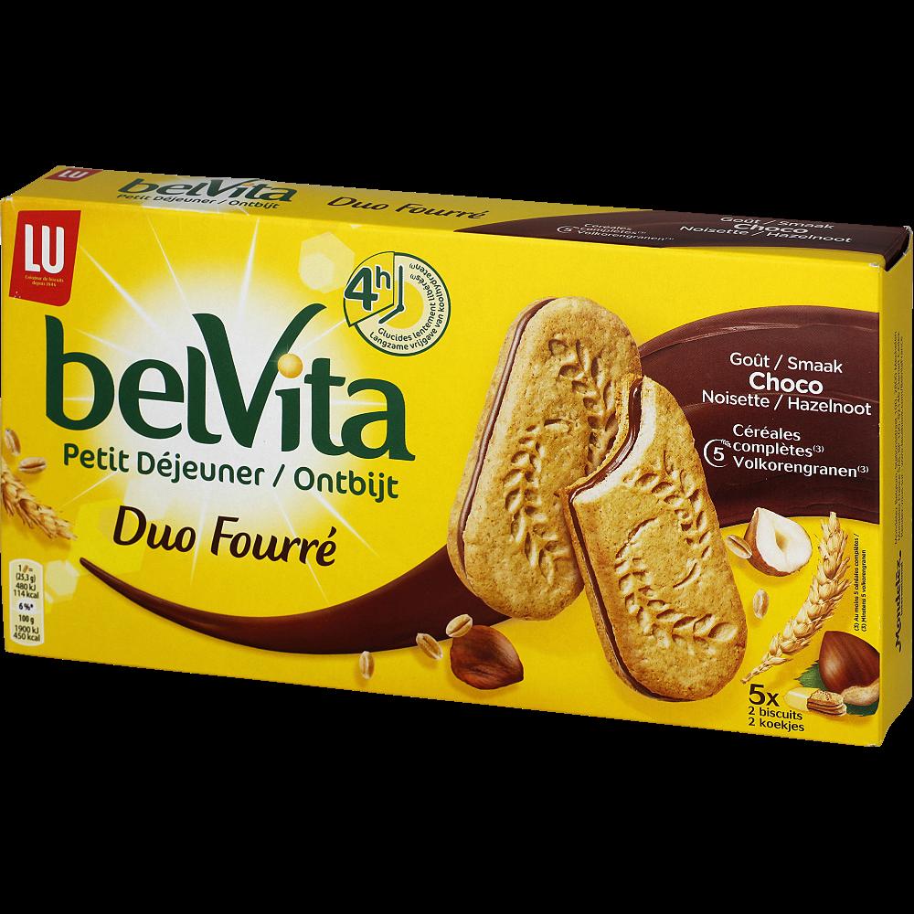 Belvita Petit Déjeuner coeur fondant chocolat noisette, Lu (253 g)