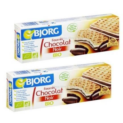 Fourrés Chocolat Noir BIO, Bjorg LOT DE 2 (225 g)
