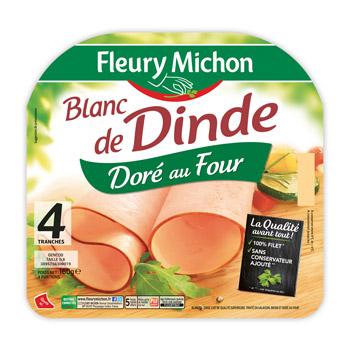 Blanc de dinde Fleury Michon (4 tranches, 120 g)