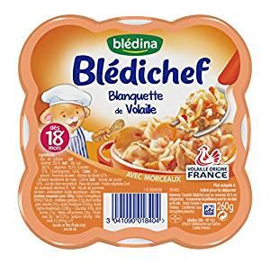 Blédichef assiette de blanquette de volaille -  dès 18 mois, Blédina (250 g)