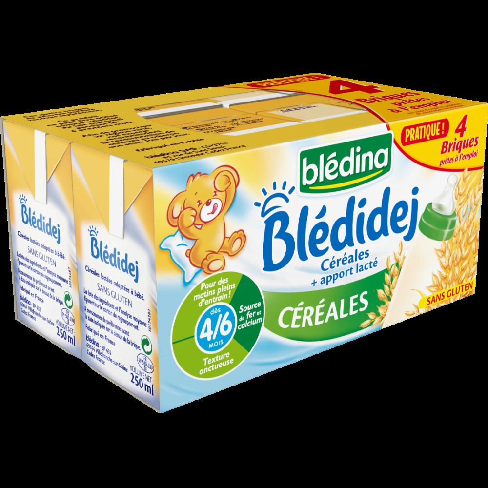 Blédidej céréales sans gluten - dès 6 mois, Blédina (4 x 250 ml)
