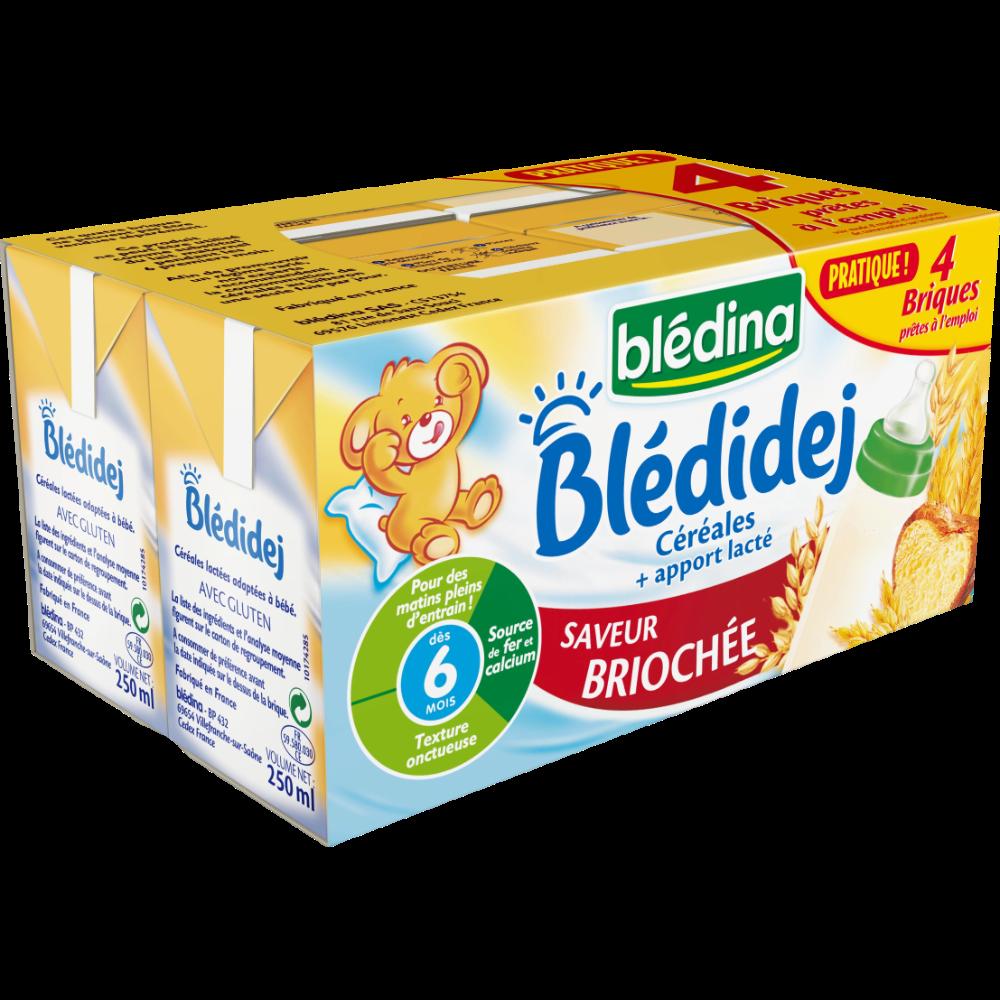 Blédidej céréales saveur briochée - dès 6 mois, Blédina (4 x 250 ml)