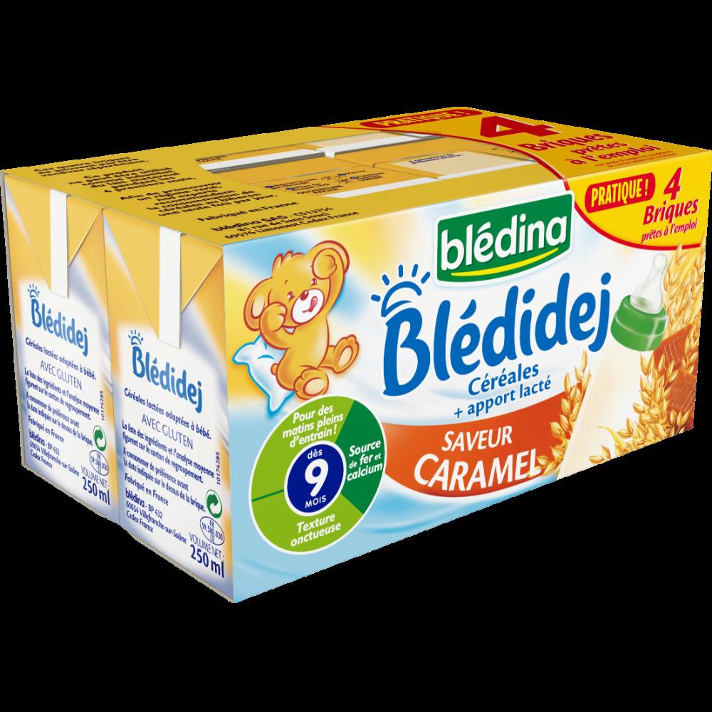 Blédidej céréales saveur caramel sans gluten - dès 9 mois, Blédina (4 x 250 ml)