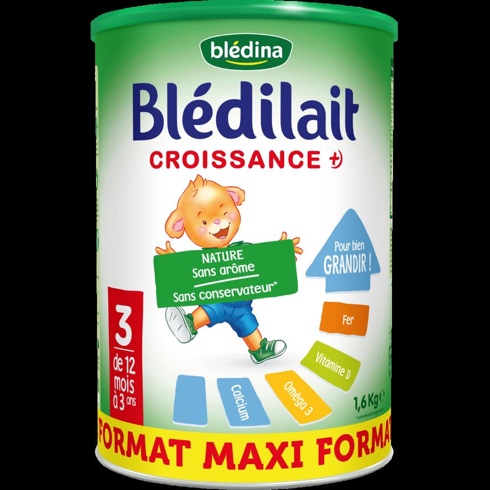Lait de croissance en poudre Blédilait 3 - de 12 mois à 3 ans, Blédina (1,6 kg)