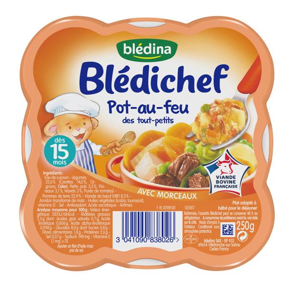 Blédichef assiette de pot-au-feu des touts petits - dès 15 mois, Blédina (250 g)