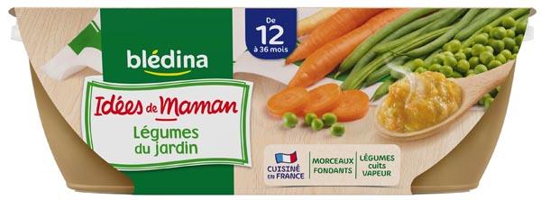 Bols de légumes du jardin et touche de ciboulette - 12 mois, Blédina (2 x 200g)