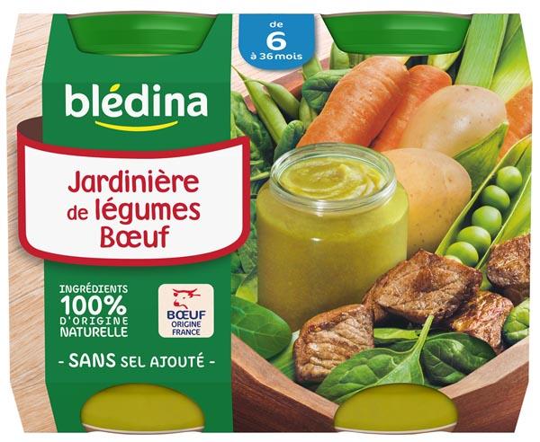 Petit pot jardinière de légumes, boeuf - dès 6 mois, Blédina (2 x 200 g)