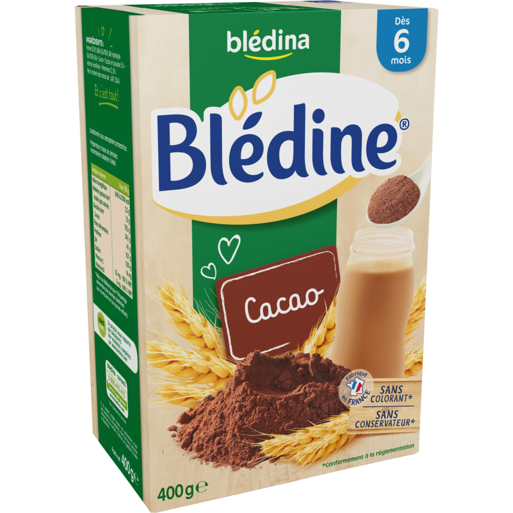 Blédine cacao - dès 6 mois, Blédina (400 g)