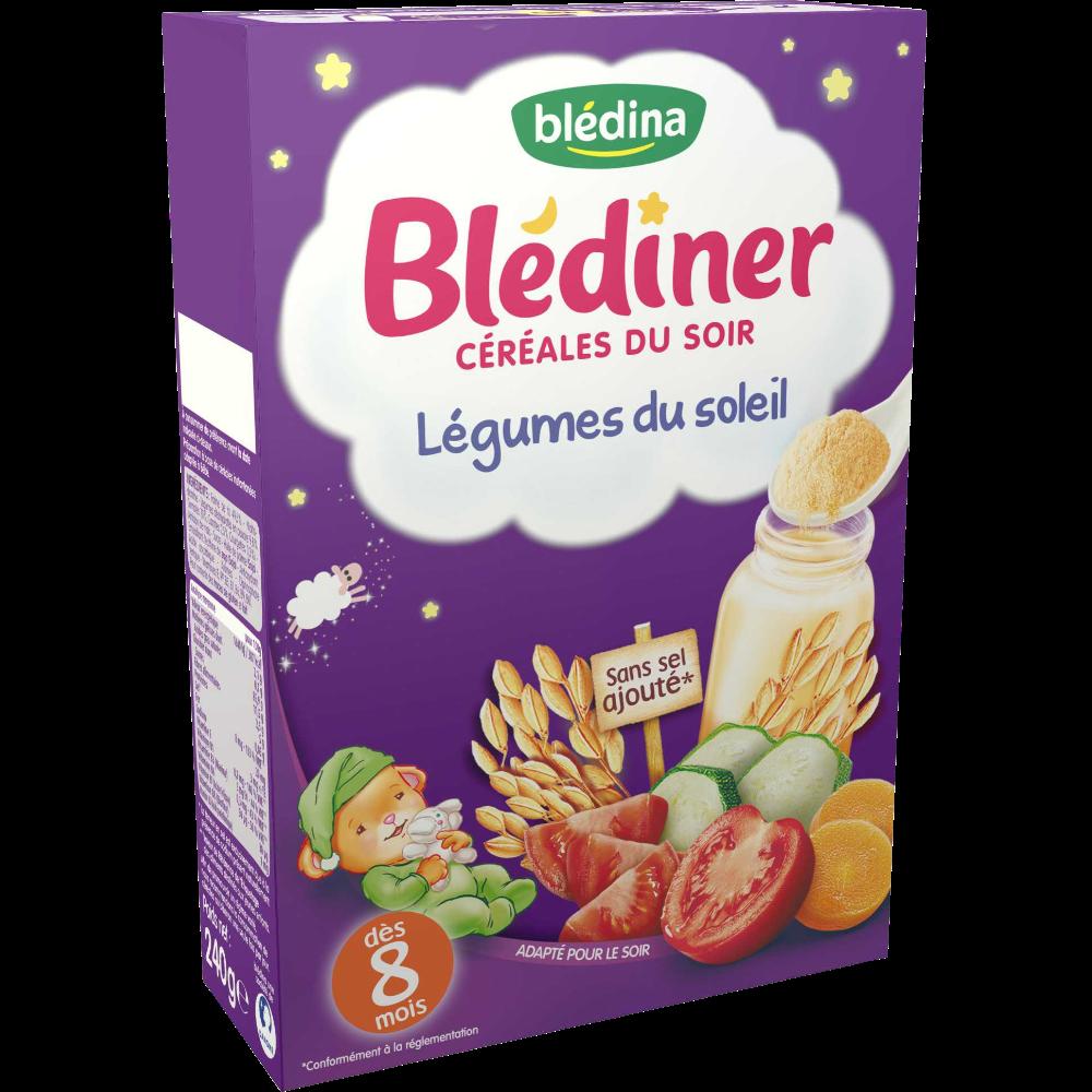 Blédiner céréales du soir légumes du soleil - dès 8 mois, Blédina (240 g)
