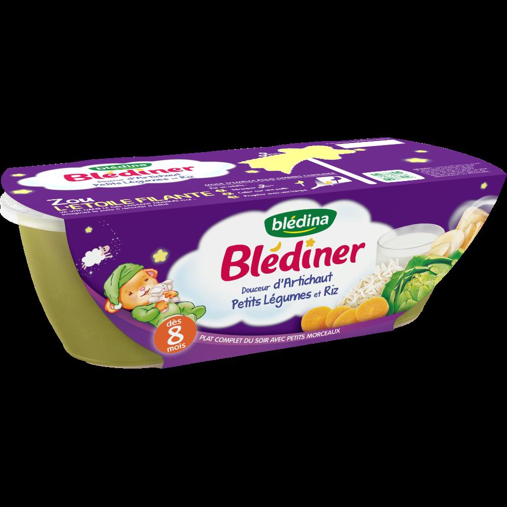 Blediner bols douceur d'artichaut, petits légumes, riz - dès 8 mois, Blédina (2 x 200 g)