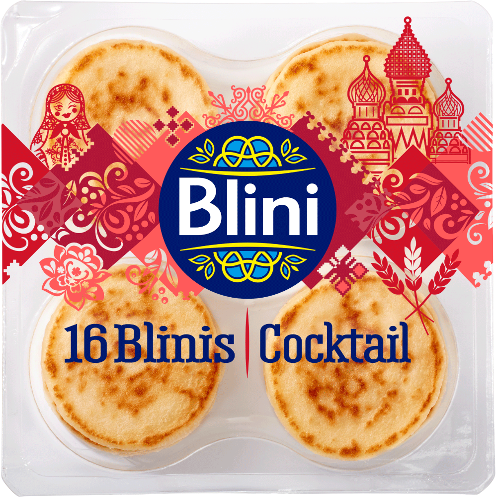 Blinis cocktail, Blini (x 16, 135 g)