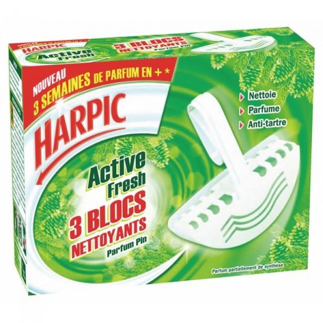 Bloc cuvette désodorisant au Pin, Harpic (x 3)
