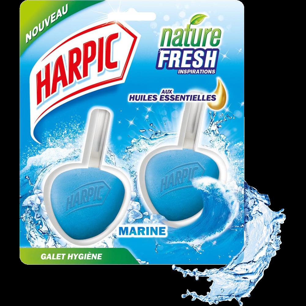 Blocs galets hygiène marine aux huiles essentielles, Harpic (x 2)