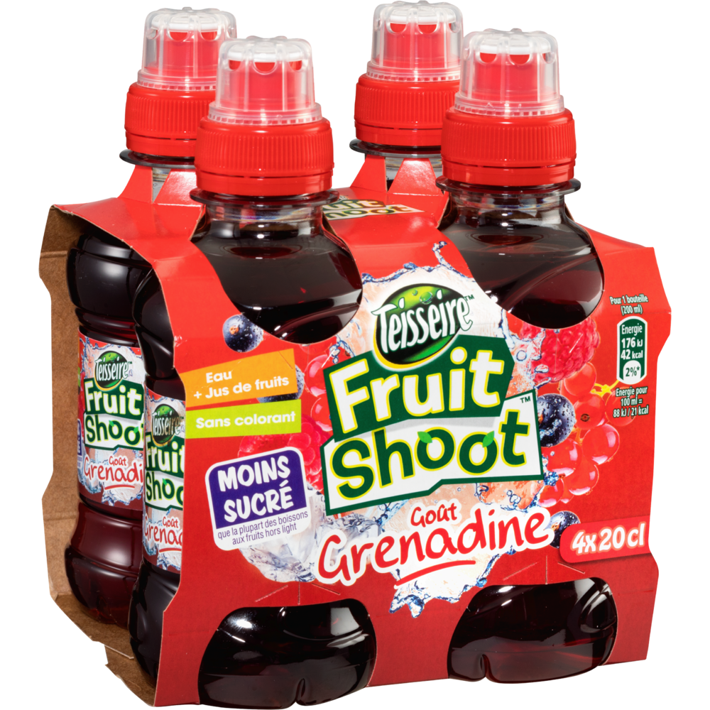 Fruit Shoot grenadine, Teisseire (4 x 20 cl)