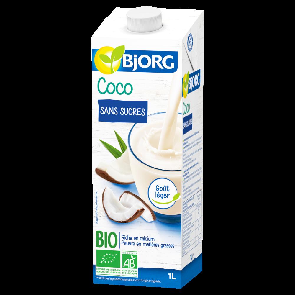 Boisson au lait de coco sans sucre BIO, Bjorg (1 L)