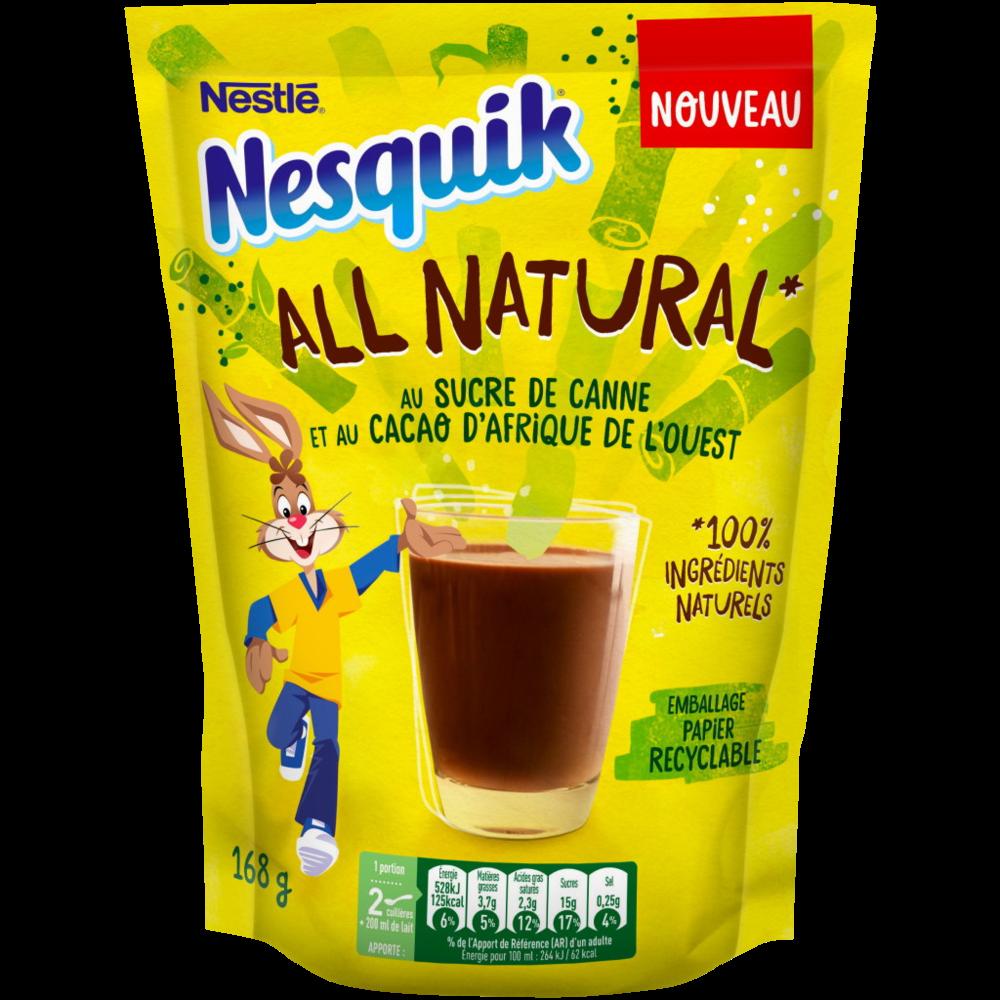 Nesquik All Natural au sucre de canne (168 g)