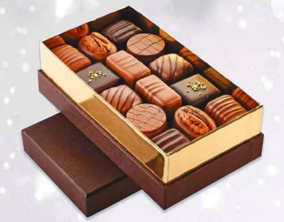 Ecrin de chocolats assortiments, chocolaterie Schaal (525 g)