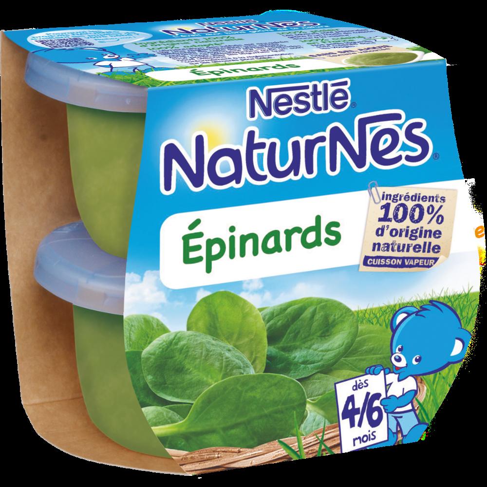 Epinards - dès 4/6 mois, Naturnes Nestlé (2 x 130 g)