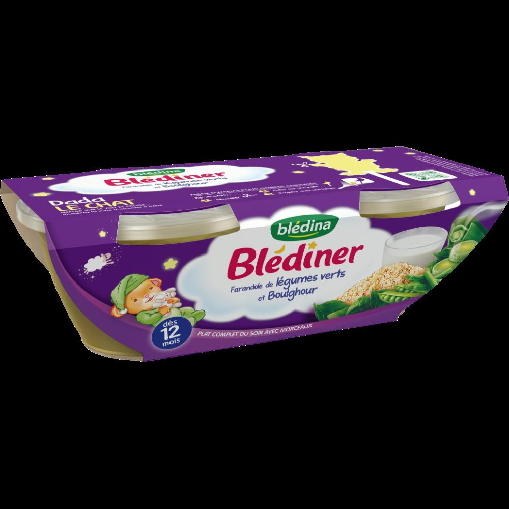 Blédiner bols farandole de légumes verts et boulgour - dès 12 mois, Blédina (2 x 200 g)