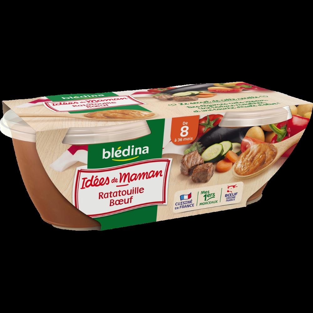 Bols ratatouille et boeuf Idées de Maman - dès 8 mois, Blédina (2 x 200 g)