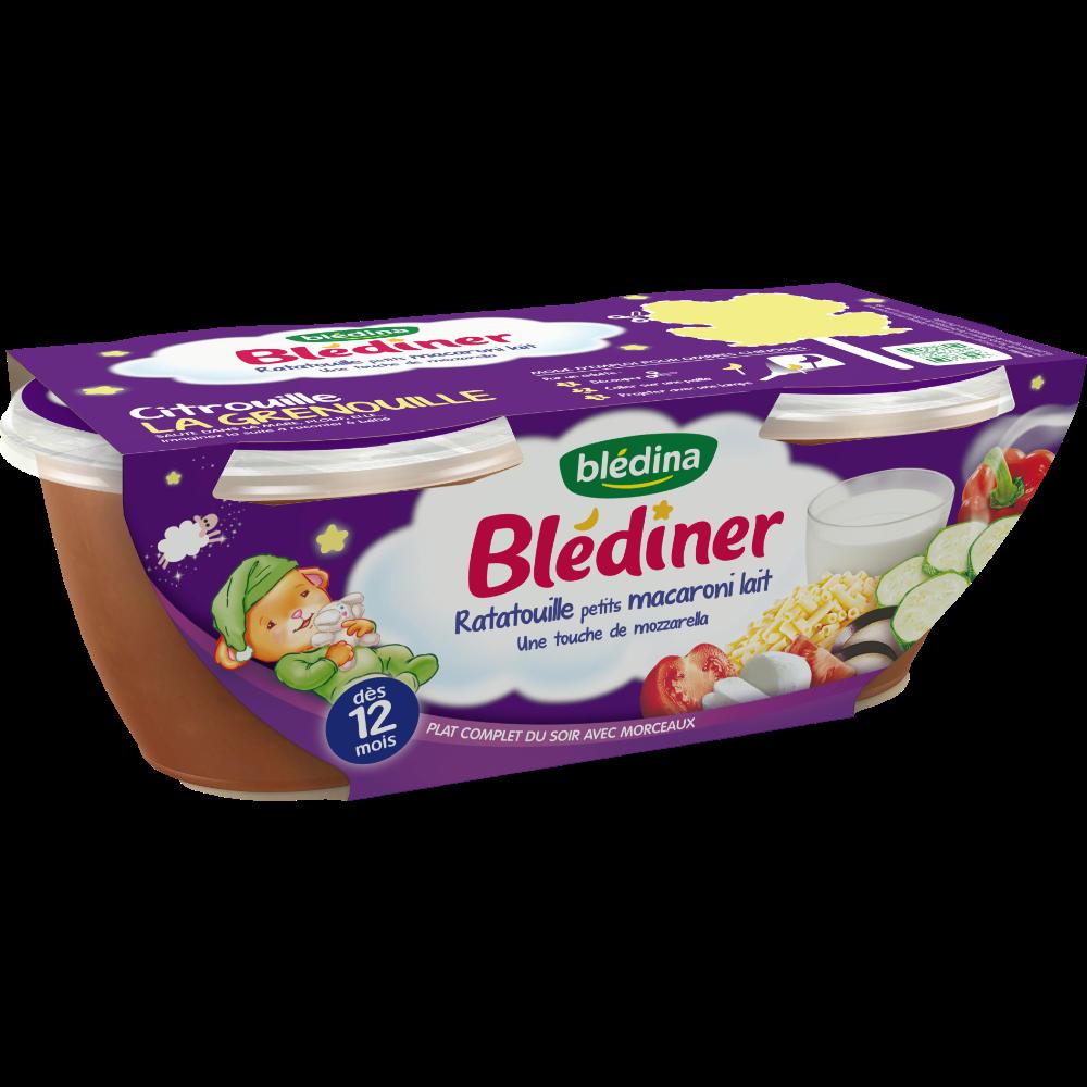 Blédiner bols ratatouille et petits macaronis - dès 12 mois, Blédina (2 x 200 g)