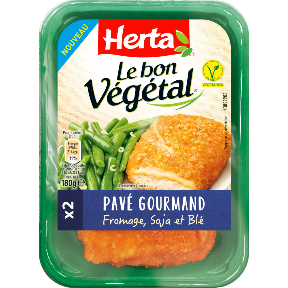 Bon végétal pavé gourmand au fromage, Herta (180 g)