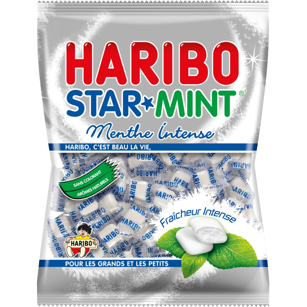 Bonbons à la menthe Ricqlès Starmint, Haribo (200 g)