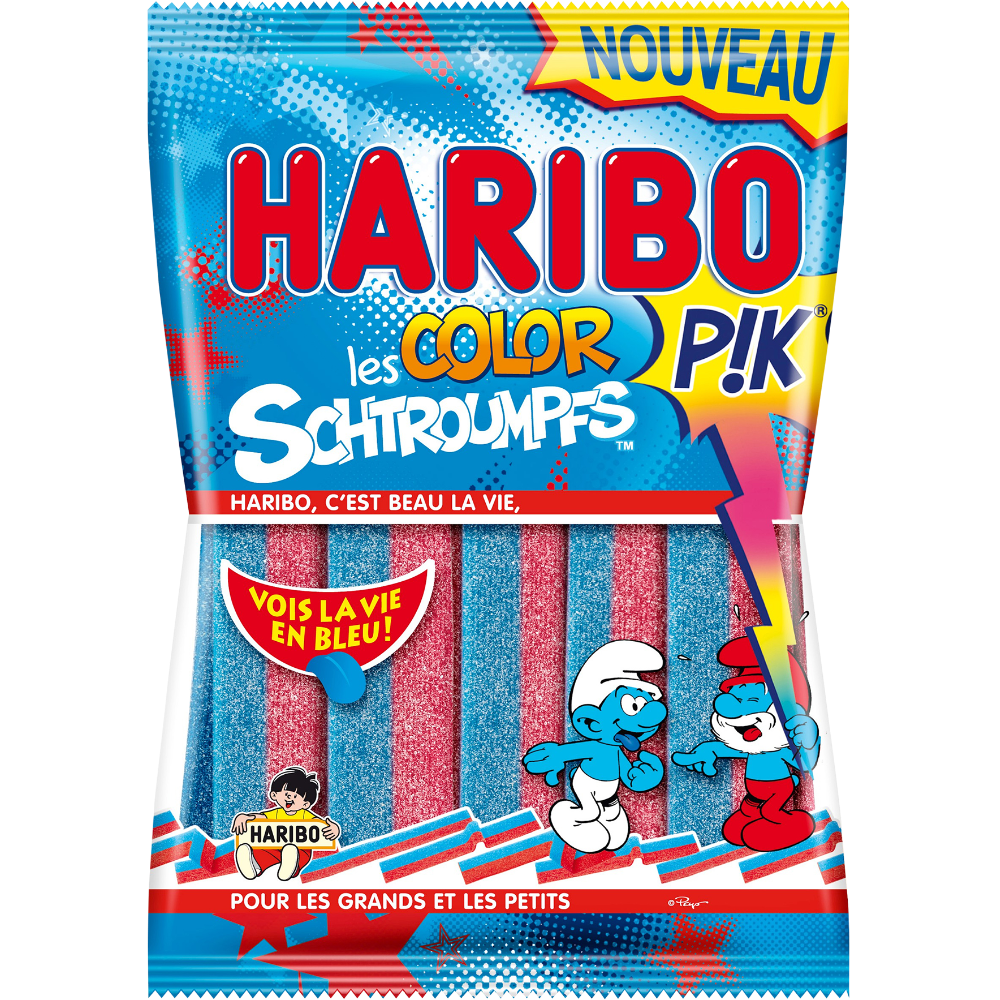 Bonbons Color Schtroumpf Pik, Haribo (180 g)