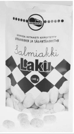 Bonbons de réglisse parfum salmiakki (140 g)