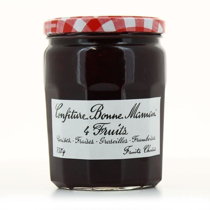 Confiture 4 fruits, Bonne Maman (750 g)