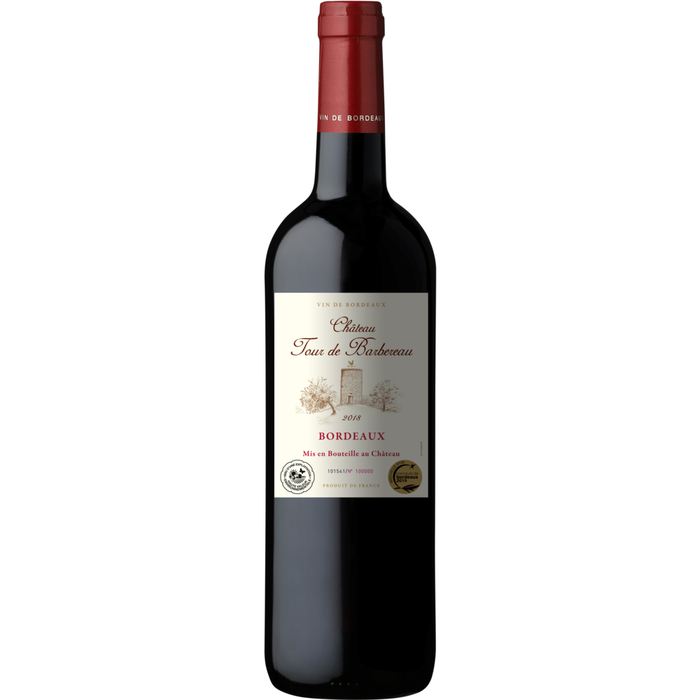 Bordeaux AOP Château Tour de Barbereau 2018 (75 cl)