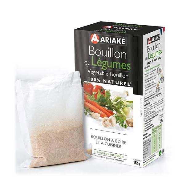Bouillon de légumes à infuser, Ariake (5 x 33 cl, 52 g)