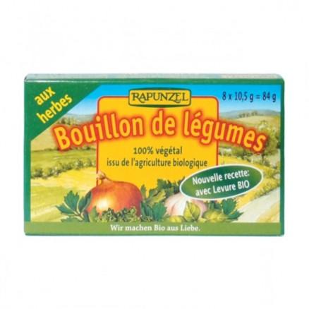 Bouillon cubes de légumes aux herbes BIO, Rapunzel (84 g)