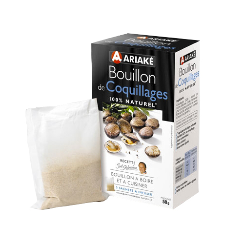 Bouillon à infuser de coquillages Ariake (5 x 33 cl)