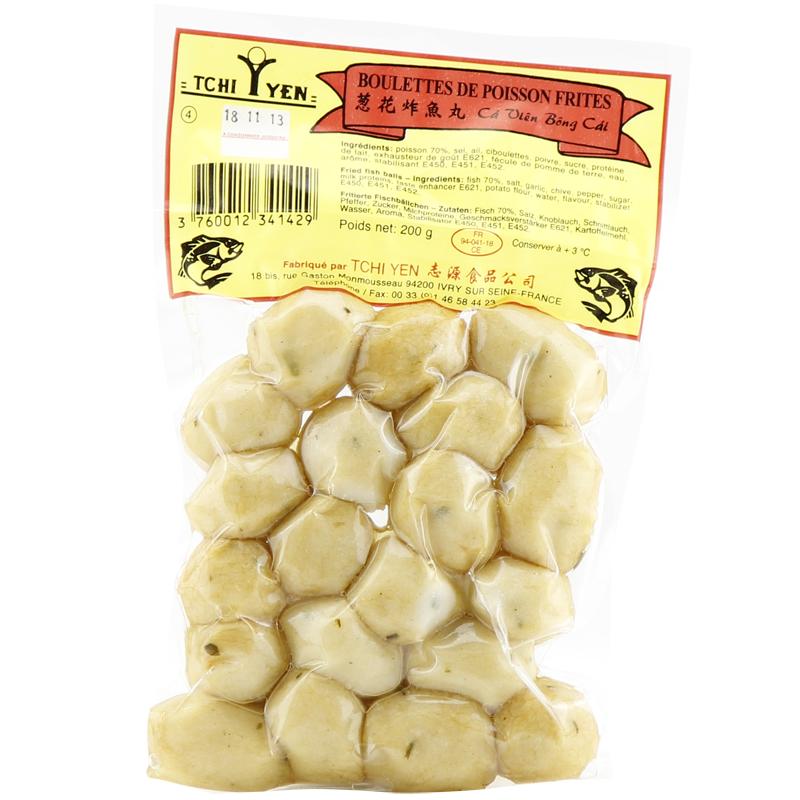 Boulettes de poisson frites, Tchi yen (200 g)
