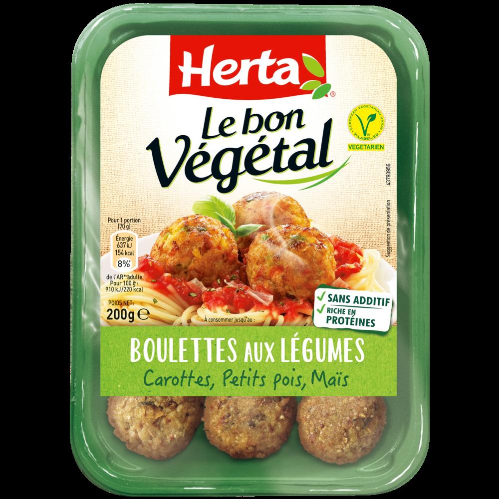 Boulettes légumes Le Bon Végétal, Herta (200 g)