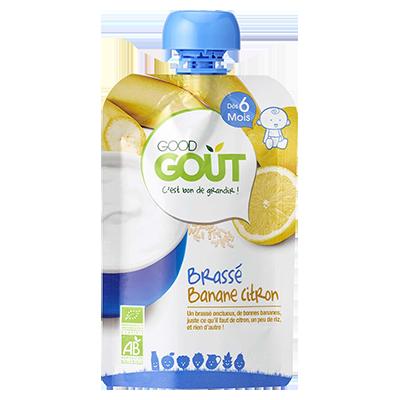 Brassé Banane Citron BIO - dès 6 mois, Good Goût (90 g)