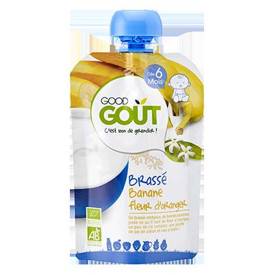 Brassé Banane Fleur d'oranger BIO - dès 6 mois, Good Goût (90 g)