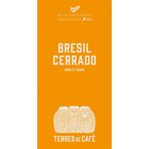 Café moulu Brésil Cerrado, Terres de Café (250 g)