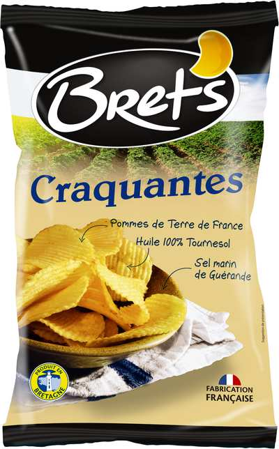 Chips craquantes au sel de Guérande, Bret's (125 g)
