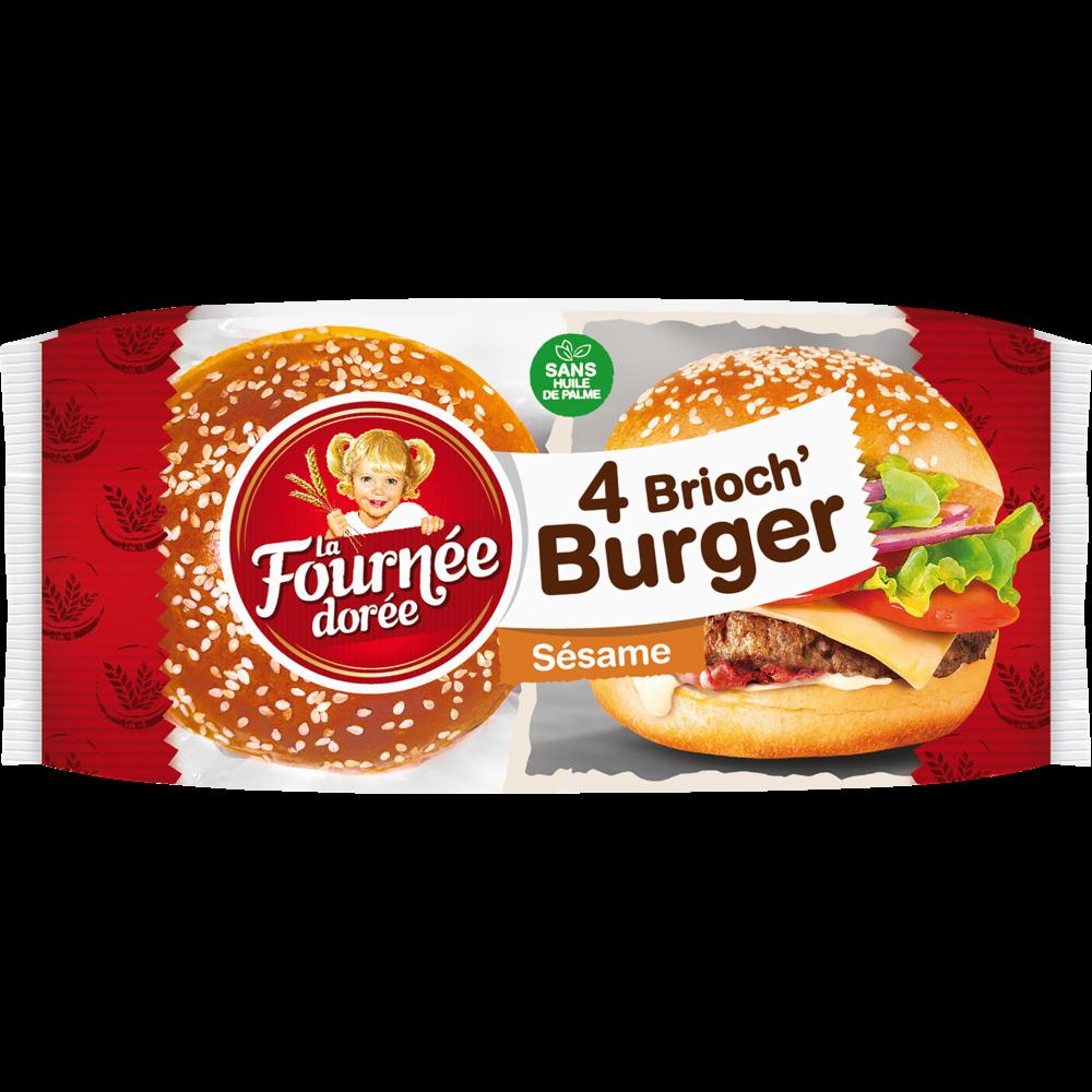Brioch' burger au sésame, La Fournée Dorée (x 4, 250 g)