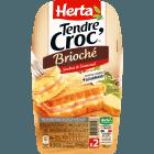 Croque Monsieur Tendre Croc' pain brioché jambon emmental, Herta (190 g)