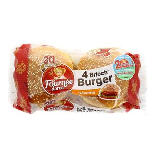 Brioch'burger, Fournée Dorée (250 g)